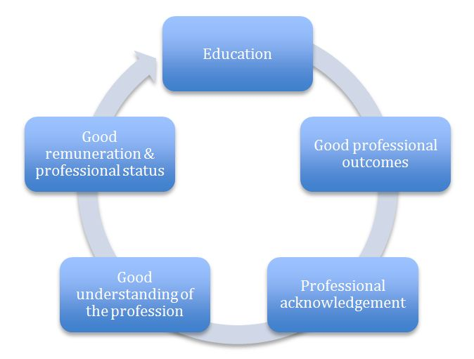 Figure 2 Circle of professionalism
