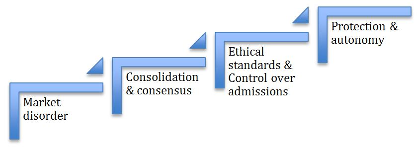 Figure 1 Tseng´s model of professionalisation process